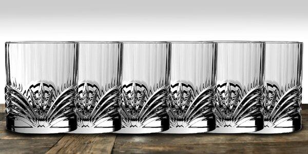 Sada 6 luxusních křišťálových sklenic na whiskey