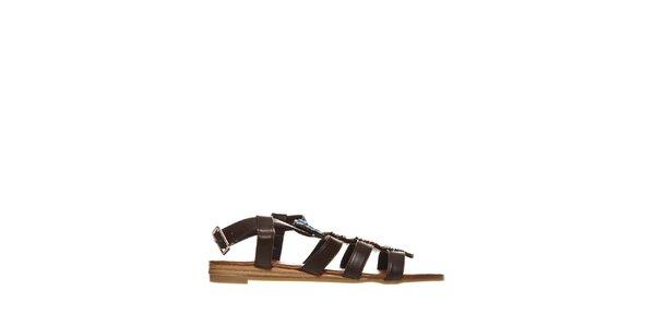 Dámské hnědé indiánské sandálky Yook for you