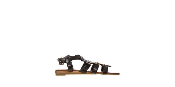 Dámské černé indiánské sandálky Yook for you
