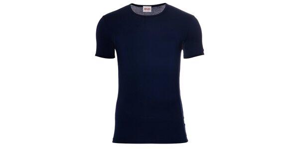 Pánské tmavě modré elastické tričko Kenzo
