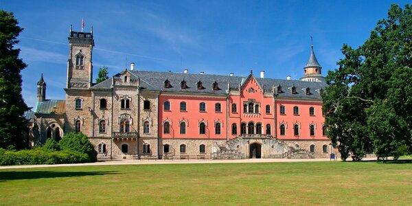 Romantika u zámku Sychrov: polopenze, víno, relax