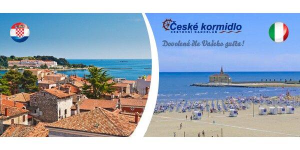 Jeden den u moře v Itálii či Chorvatsku
