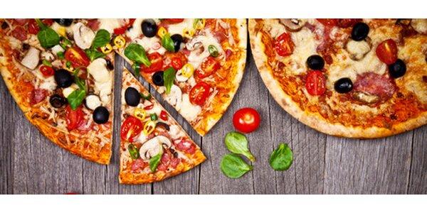 Dvě výborné pizzy dle vlastního výběru