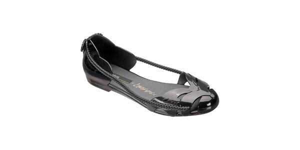 Dámské černé sandály Melissa s ozdobnými šňůrkami