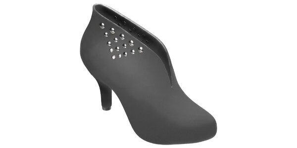Dámské šedé boty Melissa s kovovými cvoky