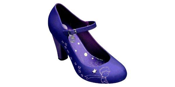 Dámské fialové lodičky Melissa s Malým princem