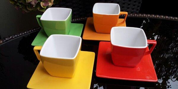 Sady 2 či 4 šálků na kávu i čaj