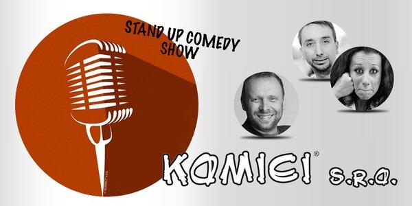 Lístek na stand-up comedy show Komici s. r. o.