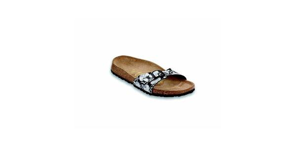 Černo-bílé ortopedické pantofle Papillio