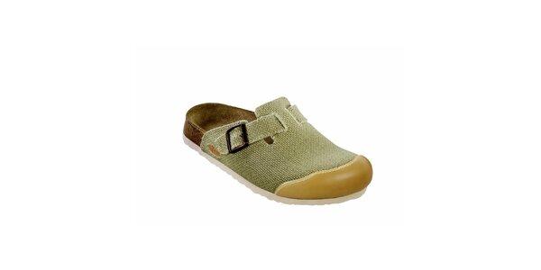 Béžové pantofle s uzavřenou špičkou Papillio