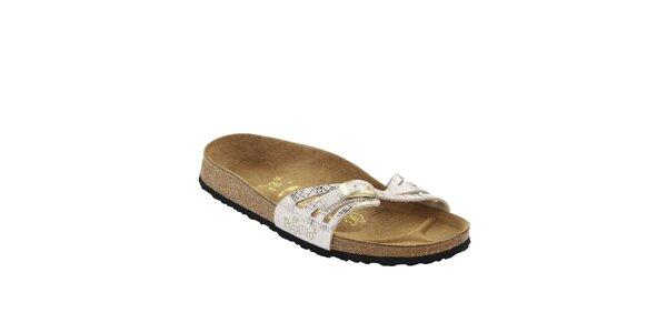Dámské bílé ortopedické pantofle Papillio