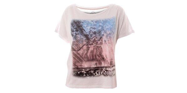 Dámské bílé tričko s potiskem Lee Cooper