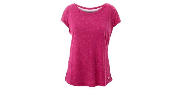 Dámské žíhané růžové tričko Lee Cooper