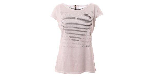 Dámské bílé tričko s motivem srdce Lee Cooper