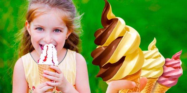 Malá či velká točená zmrzlina pro mlsné jazýčky