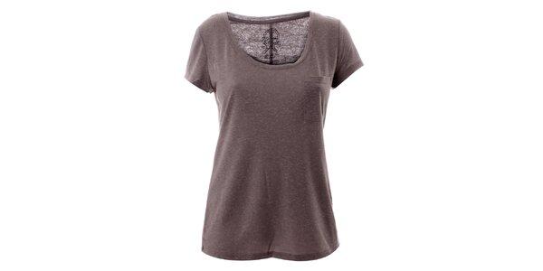 Dámské šedé tričko s kapsičkou Lee Cooper
