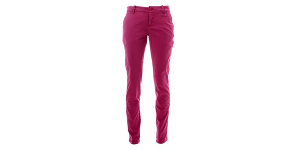 Dámské malinově růžové kalhoty Lee Cooper