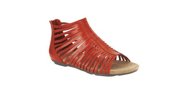 Dámské oranžové kotníkové sandálky Clarks