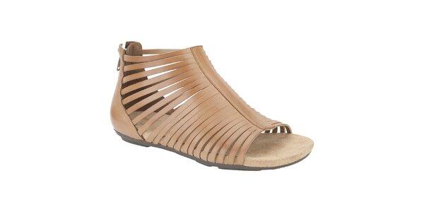 Dámské béžové kotníkové sandálky Clarks