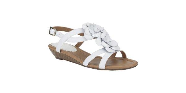 Dámské bílé sandálky s květinou Clarks