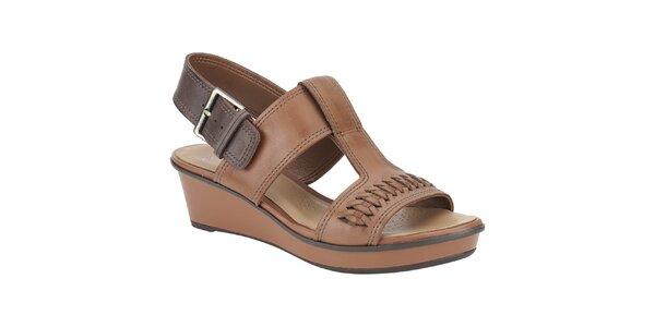 Dámské hnědo-béžové sandálky Clarks