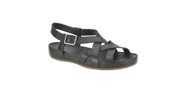 Dámské černé sandálky s širokou platformou Clarks