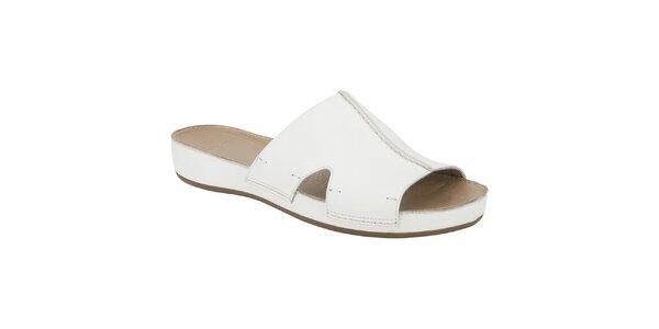 Dámské bílé pantofle Clarks