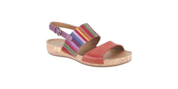 Dámské pestrobarevné sandále Clarks
