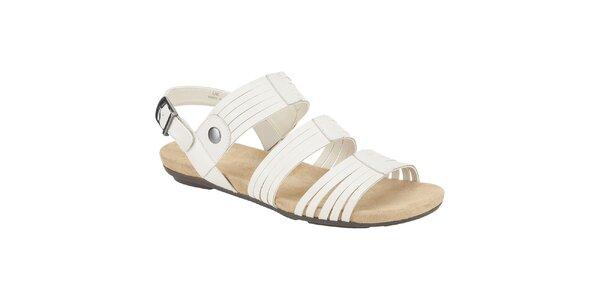 Dámské bílé kožené sandále Clarks