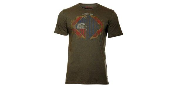 Pánské ocelově šedé tričko Lee Cooper s potiskem