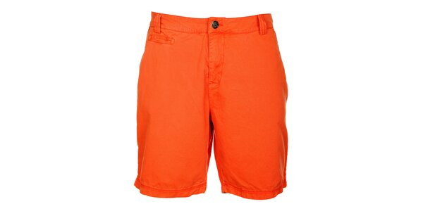 Pánské oranžové šortky Lee Cooper