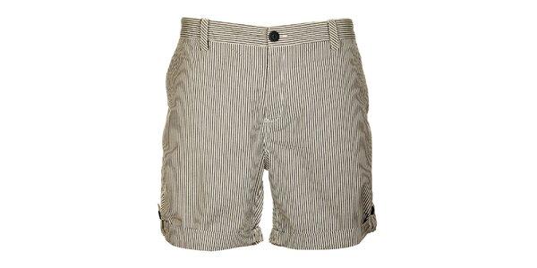 Pánské černo-bílé šortky Lee Cooper