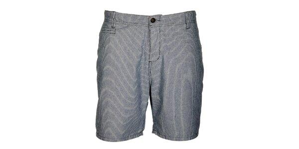 Pánské modro-bílé proužkované šortky Lee Cooper