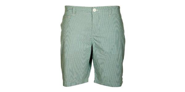 Pánské modro-zelené kostkované šortky Lee Cooper