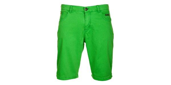 Pánské hráškově zelené bermudy Lee Cooper