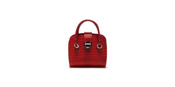 Dámská červená krokodýlí kabelka Sonia Ricci