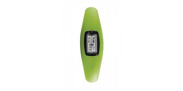 Světle zelené silikonové hodinky Breo Roam XL