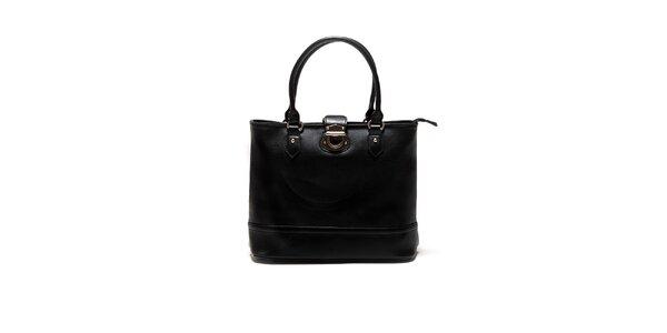 Dámská černá kabelka se zámečkem Sonia Ricci
