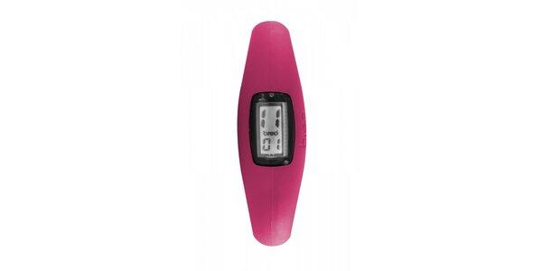 Růžové silikonové hodinky Breo Roam XL