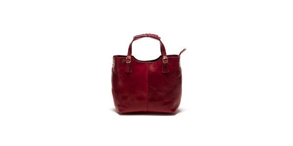 Dámská bordó kabelka s pletením Sonia Ricci