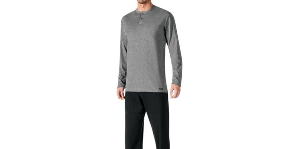 Pánské černo-šedé pyžamo Impetus