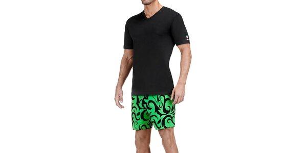 Pánské černo-zelené pyžamo Impetus