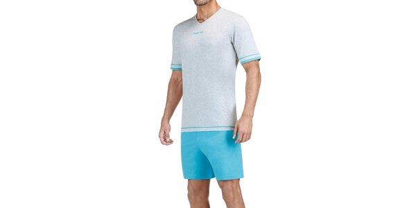 Pánské šedo-modré pyžamo Impetus