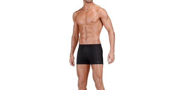 Pánské černé proužkované boxerky Impetus