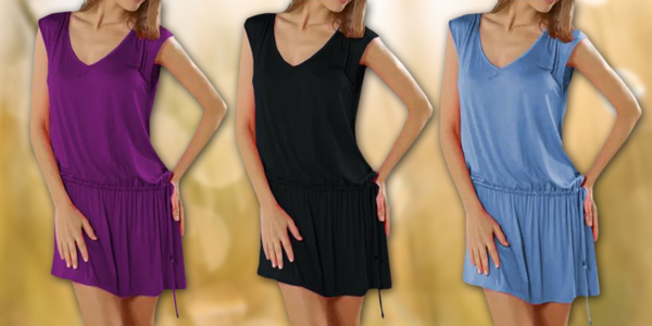 Dámské letní šaty s tkaničkou