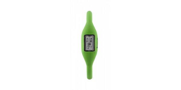 Světle zelené silikonové hodinky Breo Roam