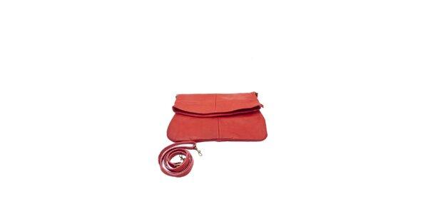 Dámská červená variabilní kabelka z hověziny Free for Humanity