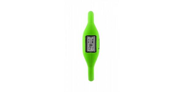 Světle zelené neonové hodinky Breo Roam