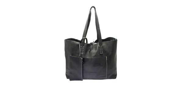 Dámská černá kožená kabelka Free for Humanity