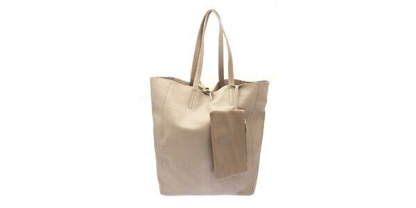 Dámská béžová kožená kabelka Free for Humanity